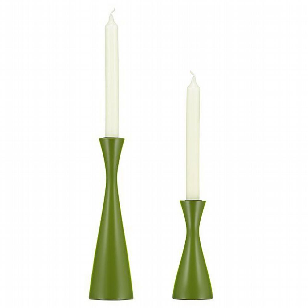 Wooden Candleholder - 2 Sizes - Olive
